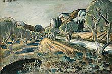 Auguste CHABAUD (1882-1955) Oliviers au Pied de Boeuf, dans les alpilles