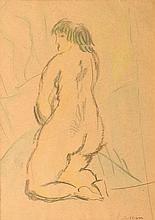 Jules PASCIN (1885-1930) Nu dans l'atelier