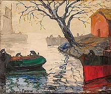 Benito QUINQUELLA MARTÍN (1890-1977) Brouillard sur le Ruisseau (Niebla en el Riachuelo)