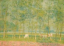 EMILE CLAUS (1849-1924) A l'Orée du bois
