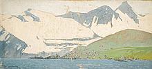 Fernand LANTOINE (1876/78-1955) Vue des côtes en Norvège