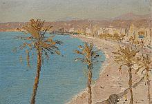 Alexandre ROUBTZOFF (1884-1949) La promenade des anglais à Nice