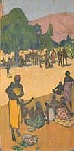 Fernand LANTOINE (1876/78-1955) Marché en Afrique