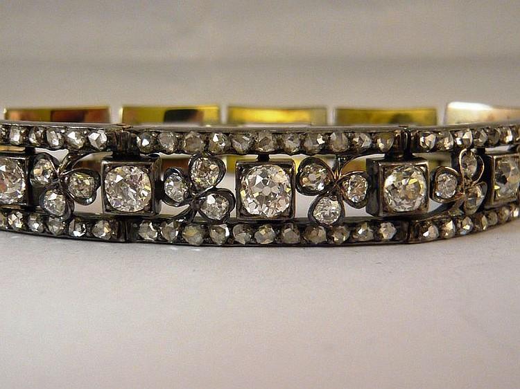 Bracelet en argent et vermeil