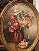VIALET    Paire de vases de fleurs     format ovale    Signés en bas à droite