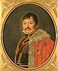 Ecole française du XIXe siècle    Portrait du Baron Guyot    Huile sur toile ovale (anciennes réparations)    65 - 53 cm