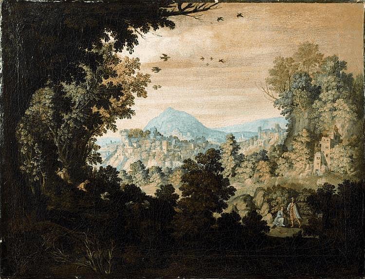 Ecole ALLEMANDE du XVIIIème siècle - Scène de chasse