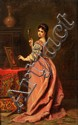 LADISLAS BAKALOWICZ - Femme au miroir