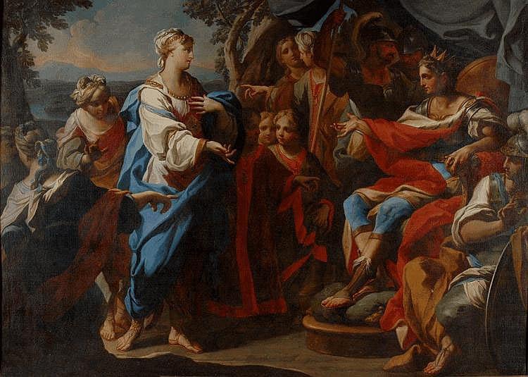 Andrea CASALI - La famille de Darius devant Alexandre...