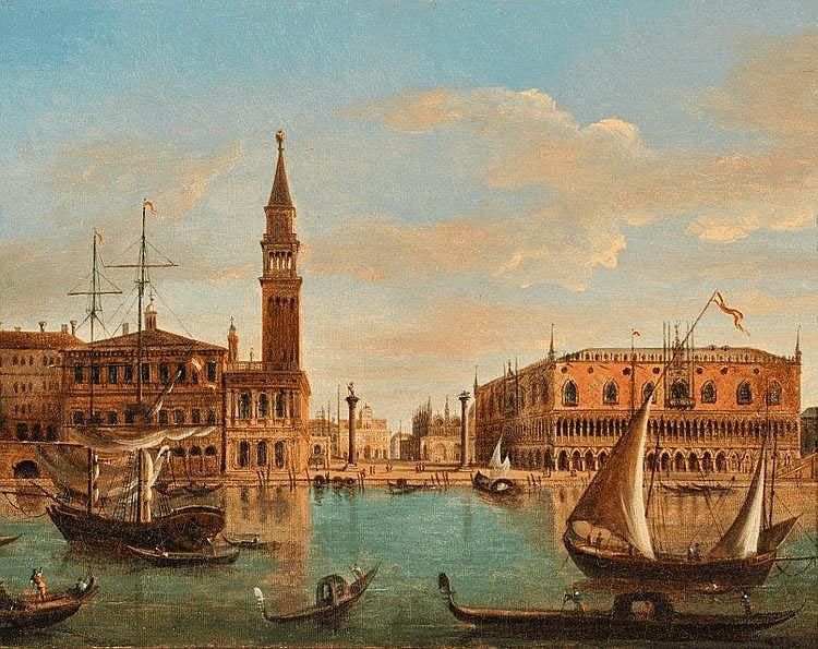Ecole Italienne début XIXème circa 1800-1820 - Venise