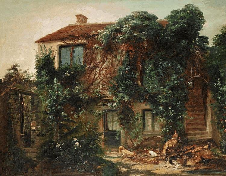 Gabriel Edouard THURNER - Maison de Théodore Rousseau à Barbizon
