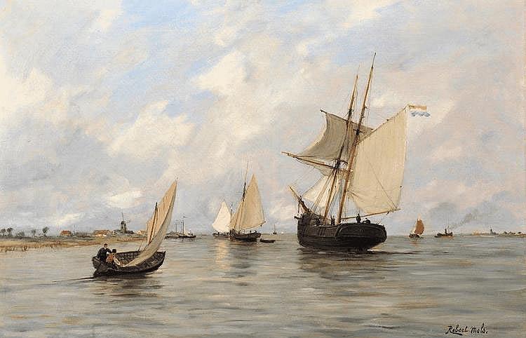 Robert MOLS - Voiliers en mer