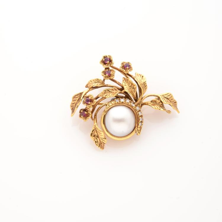 GIVENCHY BROCHE FEUILLAGE