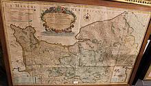 Carte de Hubert JAILLOT, Géographe du Roi, 1719 le Gouvernement General de Normandie divisée en ses trois