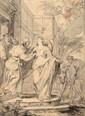 Godfried MAES (Anvers 1649 - 1700) Sainte Elizabeth visitant la Vierge