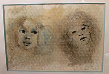 Leonor FINI   Deux visages d'enfants