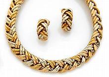 Demi-parure comprenant un collier en tresse de