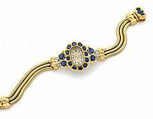 Montre de dame des années 40 en or jaune, bracelet