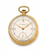 PATEK PHILIPPE  Très belle montre de poche Art Déco
