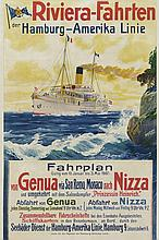 RIVIERA-FAHREN DER HAMBURG-AMERICA LINIE VON GENUA VIA SAN REMO, MONACO NACH NIZZA, 1907