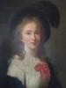 École fançaise du 18e siècle   Portrait de jeune femme au chapeau   80 x 68cm