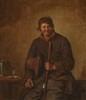 Adriaen Van OSTADE (attribué à)   1610-1685   Homme à la pipe   Huile sur toile   31 x 28 cm