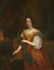 École du XVIIe siècle   Portrait de femme à la toilette   Huile sur toile monogrammée C.R.et datée 1679 en bas à droite   42 x 34 cm