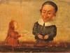Entourage de Baccio del Bianco   Fin XVIIe siècle   Personnages grotesques   Huile sur panneau   21 x 27 cm   Quelques repeints et manques