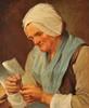 Françoise DUPARC (attribuée à) (1705-1778)   Femme au bonnet de dentelle   Huile sur toile   55 x 64 cm