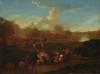Karel BREYDEL dit le Cavalier d'Anvers (1678-1733)   Choc de cavalerie   Huile sur toile signée en bas à gauche   Rentoilée   37 x 49.5 cm