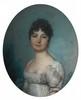 Circa 1800   Buste de femme   Pastel   60 x 50 cm   (Accidents et taches)