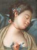 École du XVIIIe siècle   Portrait d'une jeune femme endormie   Pastel sur papier   40,5 x 32,5 cm
