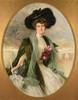 Théobald CHARTRAN (1849-1907)   Élégante à l'ombrelle   Huile sur toile signée vers le milieu à gauche, datée 1907   146,5 x 118 cm