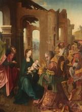 École flamande du XVIe siècle   L' Adoration des Mages   Huile sur panneau   85 x 65 cm