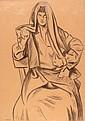 Alberto MAGNELLI (1888-1971)  Femme assise au fichu