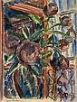 Jean DUFY (1888-1964)  Bouquet de pivoines devant la fenêtre
