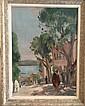 Christiane  PIVET ( 1907-1978) Vue d'Afrique du nord  Huile sur toile, signée en bas à gauche 73 x 54 cm