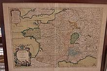 Carte de Hubert JAILLOT, Géographe du Roi, 1724
