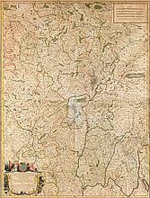 Carte de Hubert JAILLOT, Géographe du Roi, 1708
