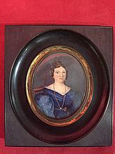 (Lot E) Six miniatures, trois femmes et trois hommes