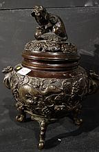 Brûle parfum en bronze
