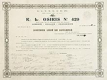 [Franc-Maçonnerie] Certificat maçonnique pour une médai