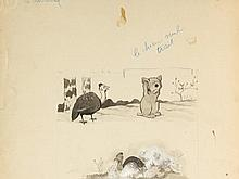 Benjamin RABIER (1864-1939) - La Pintade (Histoires nat