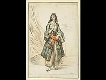 Achille DEVERIA (PARIS, 1800 - 1857) - Femme grecque.