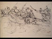 Henri CHARTIER - Scène de bataille de la guerre de 1870