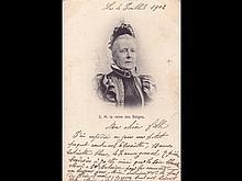 Famille royale belge: Léopold II et Marie Henriette. En