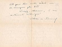 COLETTE - Lettre autographie signée à A. Van Nieuwenhuy