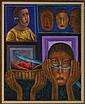 RODOLFO MORALES, Ofrenda de sandías, Firmado. Óleo/ tela, 99.5 x 79.5 cm, Con certificado. Vo.Bo. Víctor González, Fundación Arte Oaxac