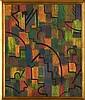 ALICE RAHON, Sin título, Firmado. Óleo sobre masonite, 59 x 48.5 cm, Vo. Bo. Oscar Román.