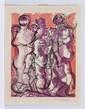 DAVID ALFARO SIQUEIROS, Familia, Firmada. Litografía sin tiraje, 55 x 42.5 cm
